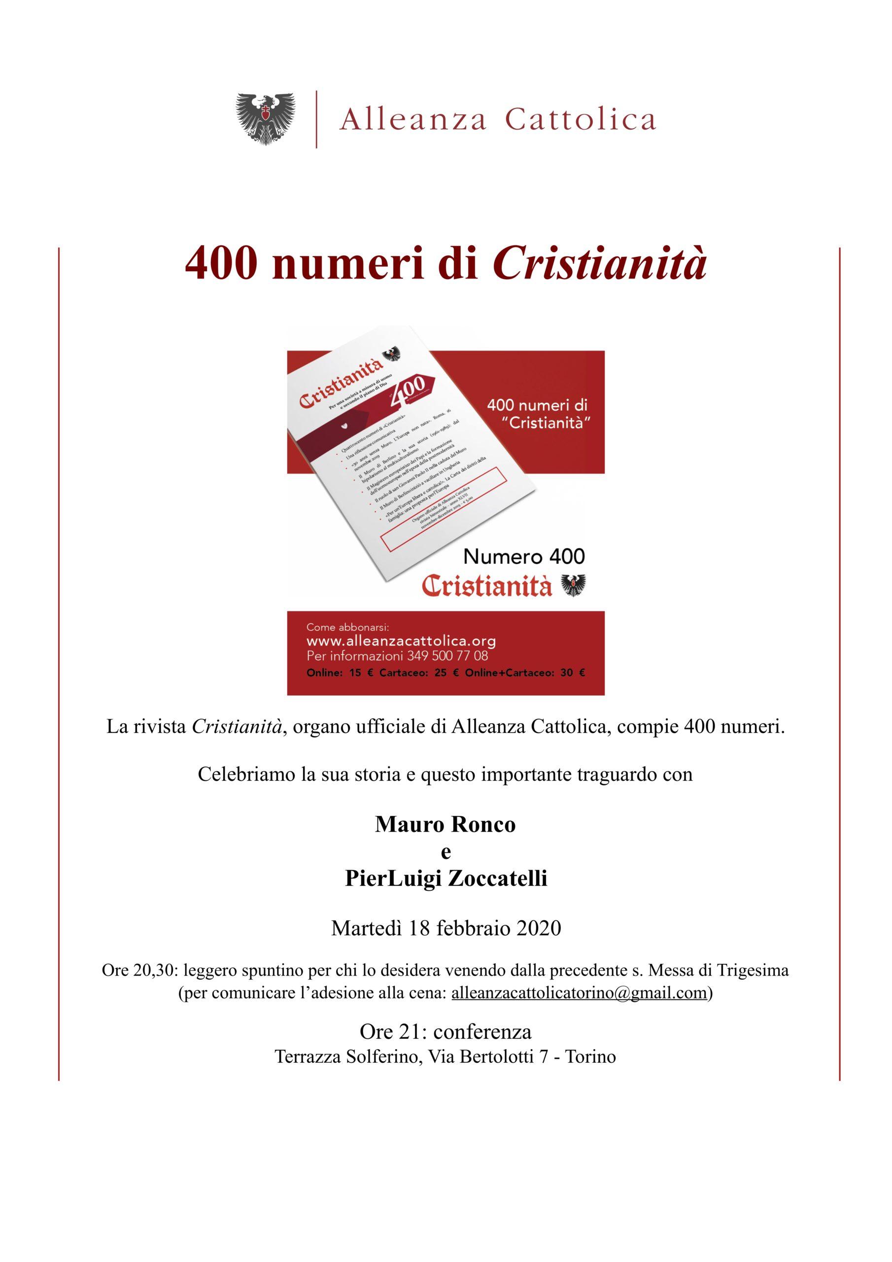 400 numeri di cristianità